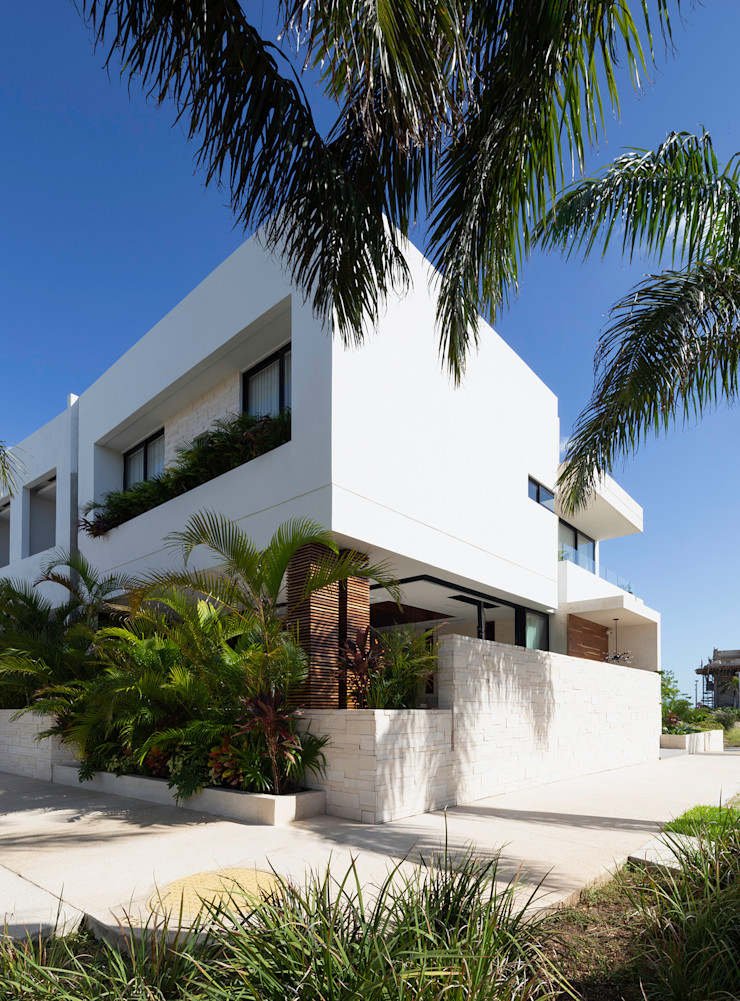 casa de la p Daniel Cota Arquitectura | Despacho de arquitectos | Cancún Modern Houses Concrete White