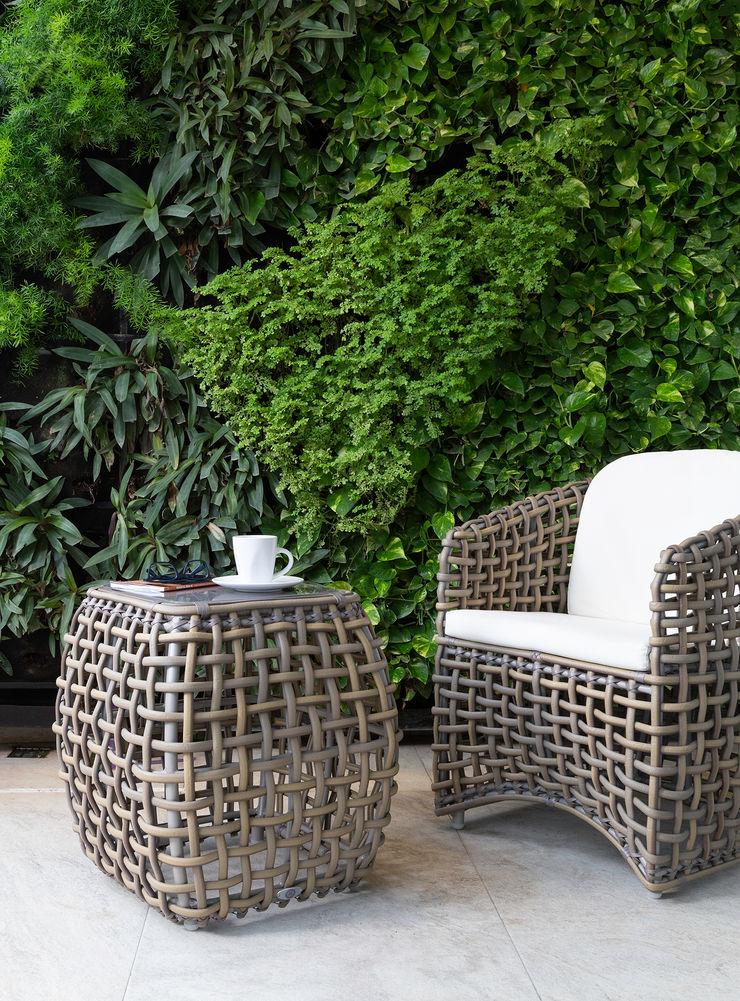 casa de la p Daniel Cota Arquitectura | Despacho de arquitectos | Cancún Modern Terrace Slate Grey