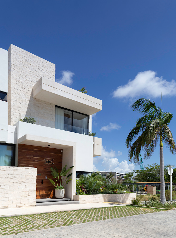 casa de la p Daniel Cota Arquitectura | Despacho de arquitectos | Cancún Single family home Concrete White
