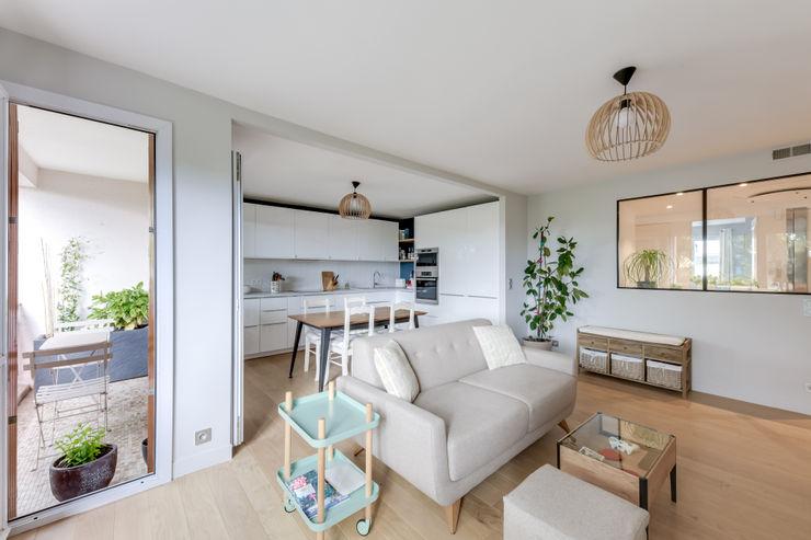 Salon et cuisine Créateurs d'Interieur Salon scandinave