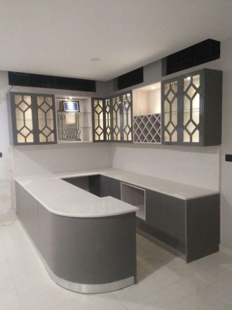 Bar Unit Grey-Woods 客廳配件與裝飾品 石英 Grey