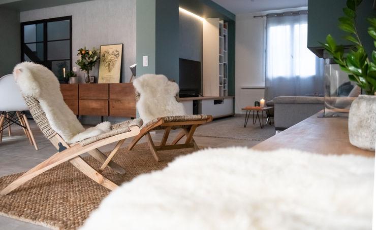 Inspiration Forestière Agence Maïlys MOUTON Salon scandinave