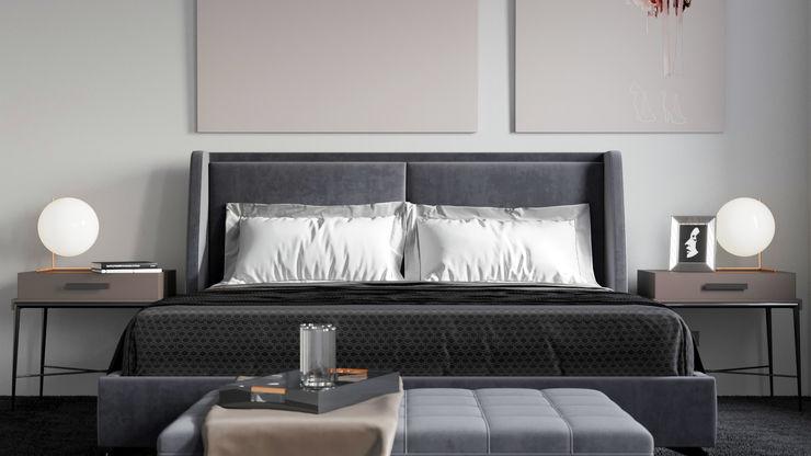 Ale design Grzegorz Grzywacz Small bedroom Pink