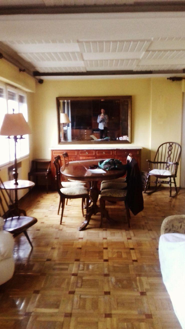 Salon. Zona comedor. arQmonia estudio, Arquitectos de interior, Asturias
