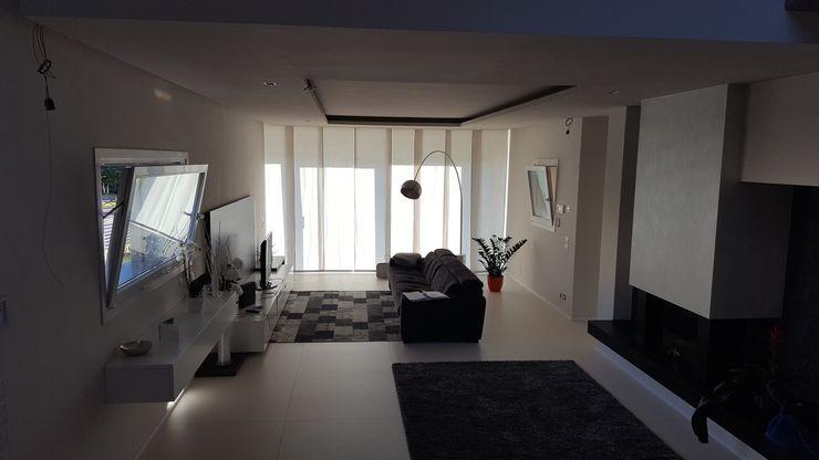 TuscanBuilding - Studio tecnico di progettazione Living room Limestone Transparent