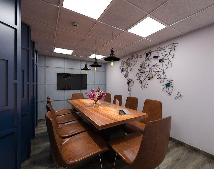 Grey-Woods Oficinas y tiendas Derivados de madera Blanco