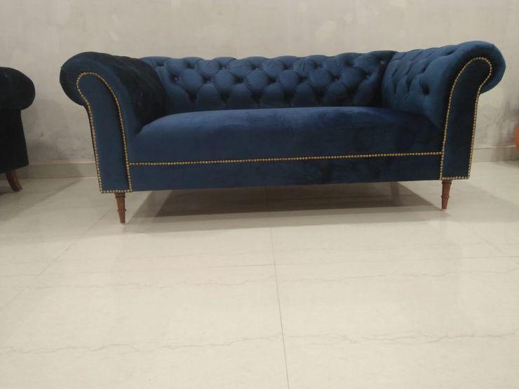 Grey-Woods 客廳沙發與扶手椅 複合木地板 Blue