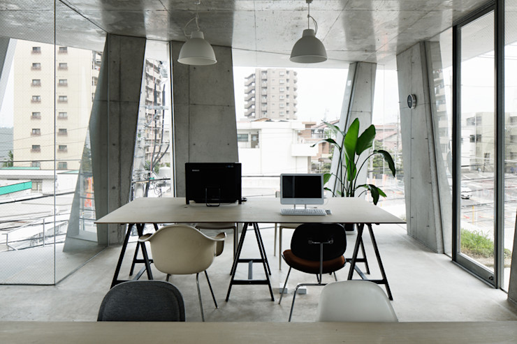 CO2WORKS Modern study/office Concrete Grey