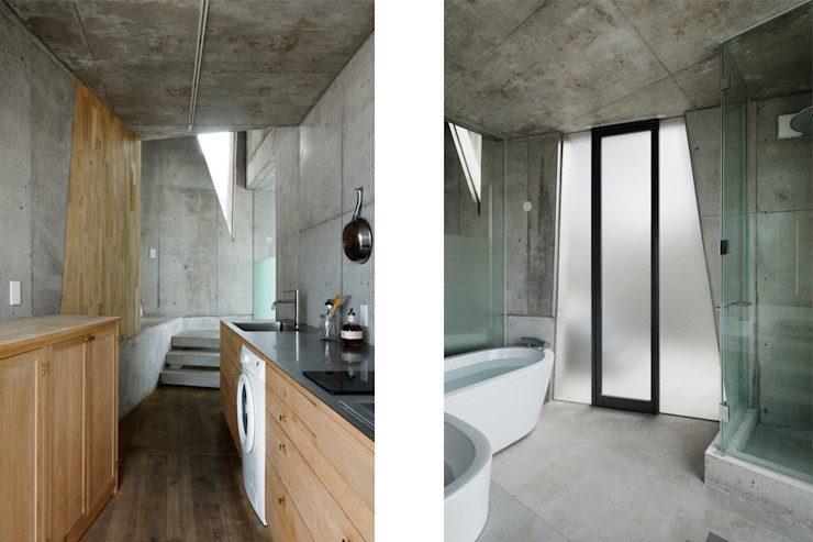 CO2WORKS Modern bathroom Concrete Grey