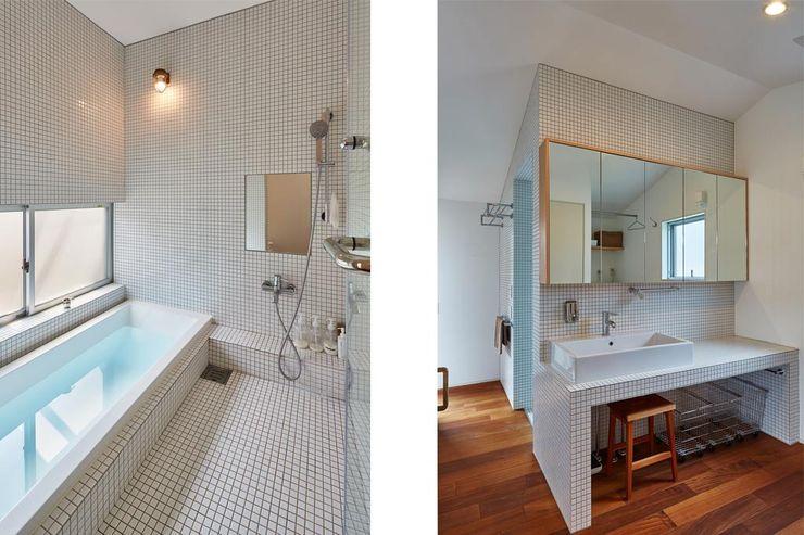 CO2WORKS Asian style bathroom Tiles White