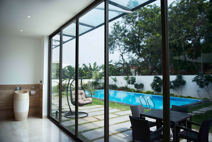 Outdoor space DesignQube Modern pool