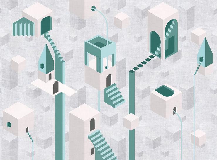 Tecnografica Paredes y pisos de estilo moderno Blanco