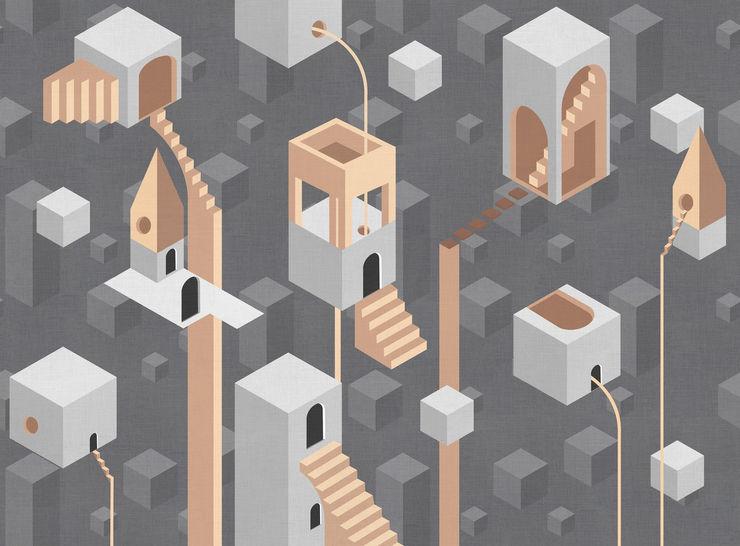 Tecnografica Paredes y pisos de estilo moderno Negro