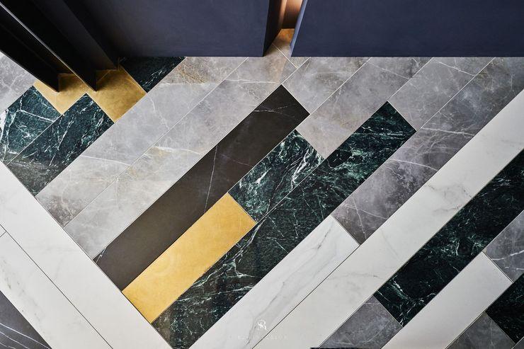 生生創研 XOR Creative Research 理絲室內設計有限公司 Ris Interior Design Co., Ltd. 地板 銅/青銅/黃銅 Amber/Gold