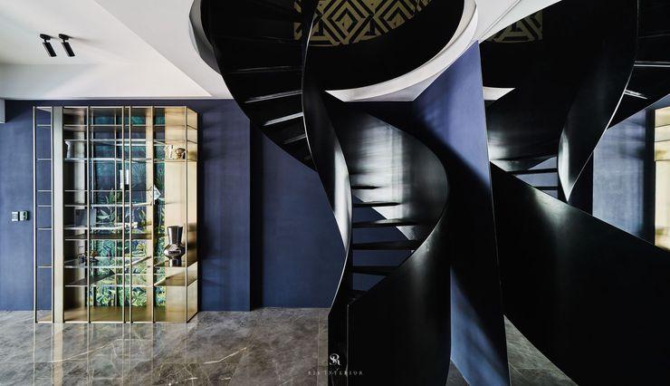 生生創研 XOR Creative Research 理絲室內設計有限公司 Ris Interior Design Co., Ltd. 樓梯 鐵/鋼 Purple/Violet
