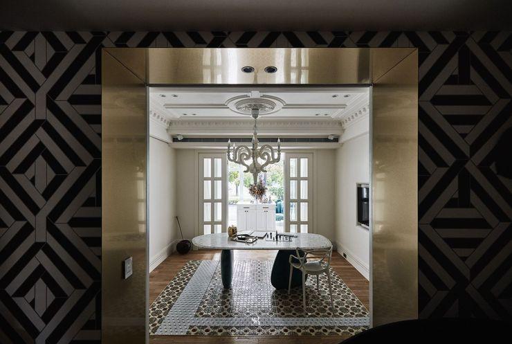 生生創研 XOR Creative Research 理絲室內設計有限公司 Ris Interior Design Co., Ltd. 書房/辦公室 銅/青銅/黃銅 Amber/Gold