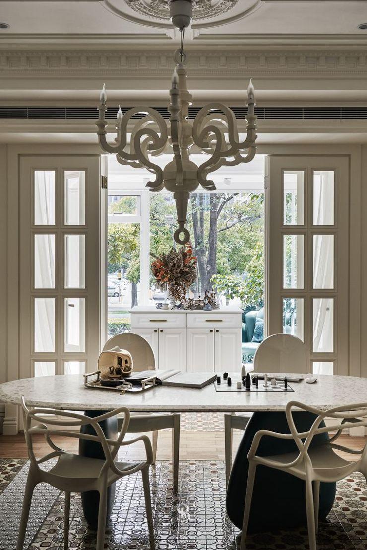 生生創研 XOR Creative Research 理絲室內設計有限公司 Ris Interior Design Co., Ltd. 辦公空間與店舖 塑木複合材料 White