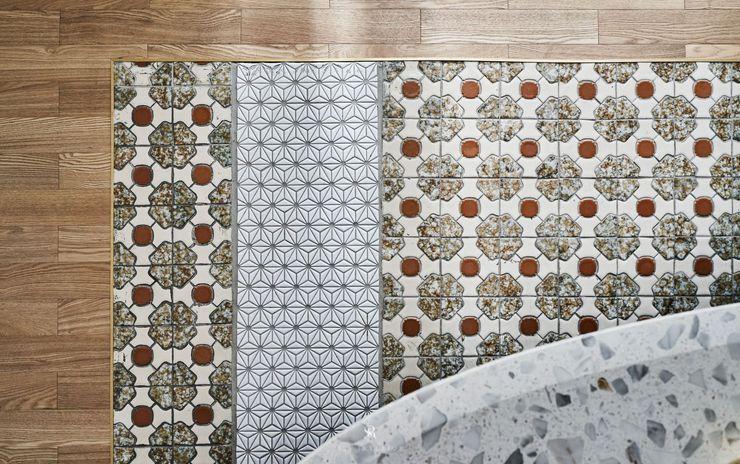 生生創研 XOR Creative Research 理絲室內設計有限公司 Ris Interior Design Co., Ltd. 地板 磚塊 Grey