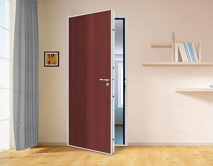 installation de votre porte blindée Serrurier Paris 75 Front doors Aluminium/Zinc Amber/Gold