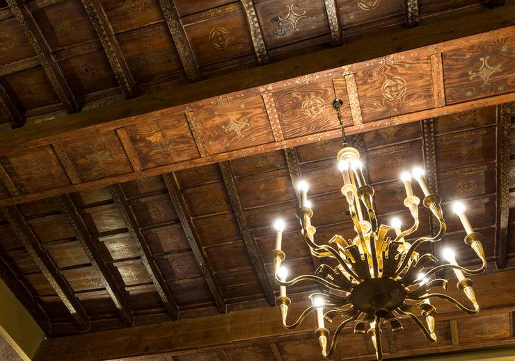 Decorated Wooden Ceiling ARTE DELL'ABITARE Multimedia roomAccessories & decoration Solid Wood Multicolored