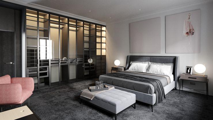 Ale design Grzegorz Grzywacz Minimalist living room Grey