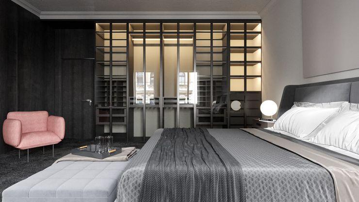 Ale design Grzegorz Grzywacz Minimalist living room Black