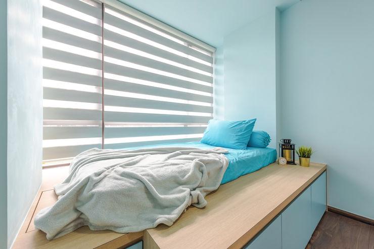 DAP Atelier 小さな寝室 合板(ベニヤ板) 青色