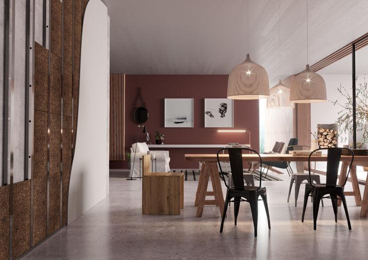 Baumaterialien für zu Hause Go4cork Moderne Wohnzimmer Kork