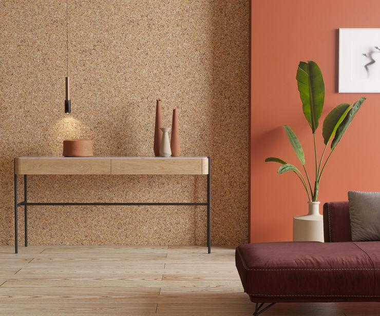 Flur Go4cork Moderne Wände & Böden Kork Holznachbildung