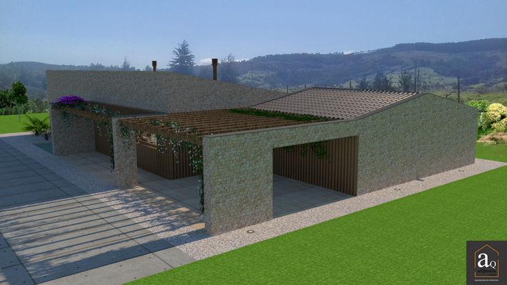 Vivienda en piedra arQmonia estudio, Arquitectos de interior, Asturias Casas de estilo mediterráneo Piedra