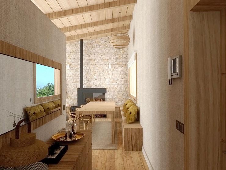 Una vivienda muy luminosa. arQmonia estudio, Arquitectos de interior, Asturias Pasillos, vestíbulos y escaleras de estilo mediterráneo
