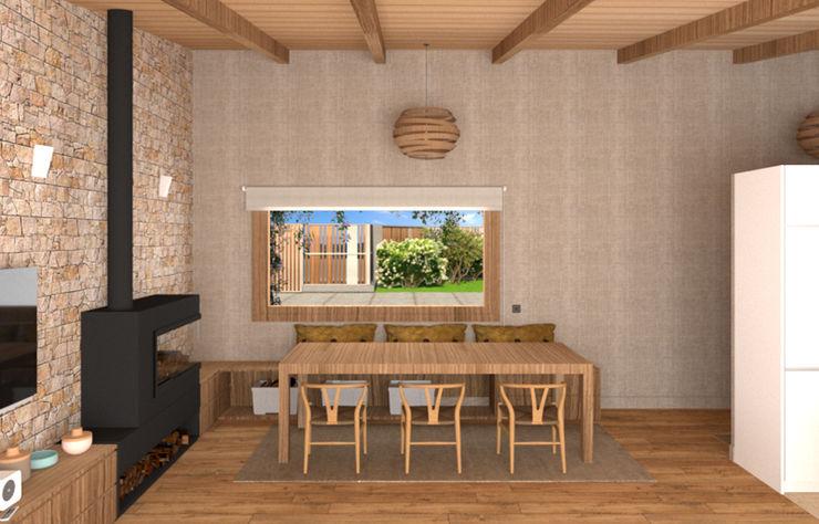 Un rincón muy acogedor arQmonia estudio, Arquitectos de interior, Asturias Comedores de estilo mediterráneo
