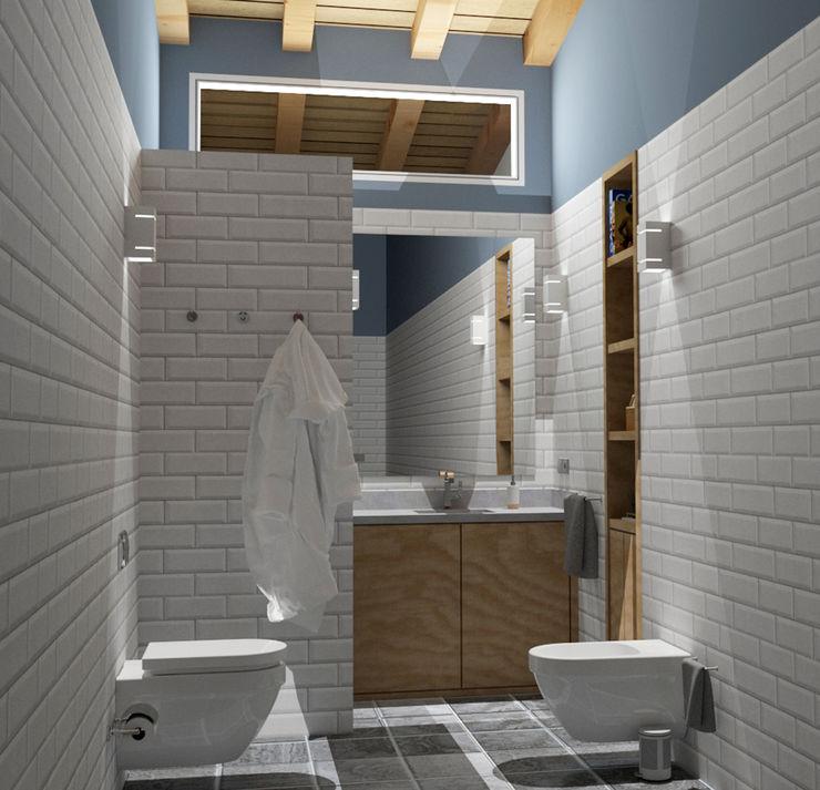Luz escénica arQmonia estudio, Arquitectos de interior, Asturias Baños de estilo mediterráneo