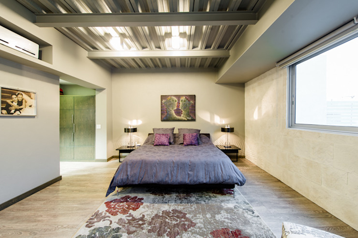 CASA POMPEYA Con Contenedores S.A. de C.V. Dormitorios modernos
