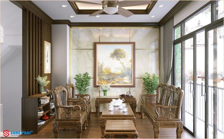 Công ty TNHH TK XD Song Phát Living roomSofas & armchairs Wood Grey
