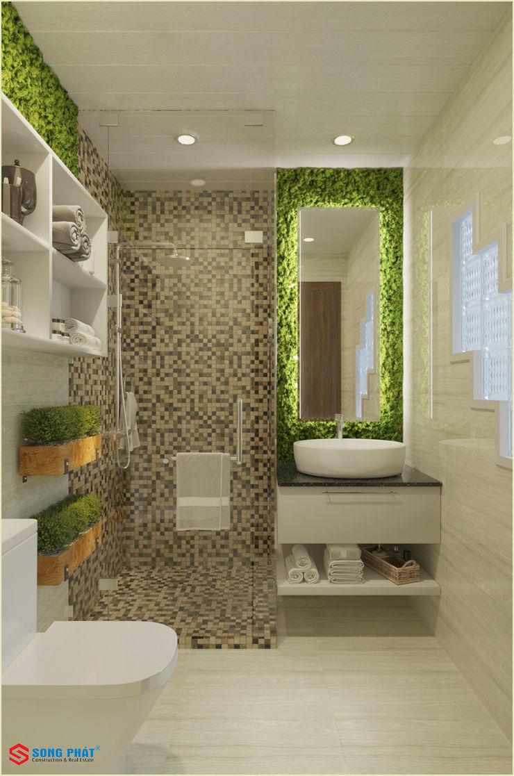 Công ty TNHH TK XD Song Phát BathroomMirrors Tiles Grey