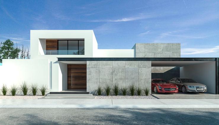 Fachada frontal Juve 3D Studio Casas unifamiliares Concreto reforzado