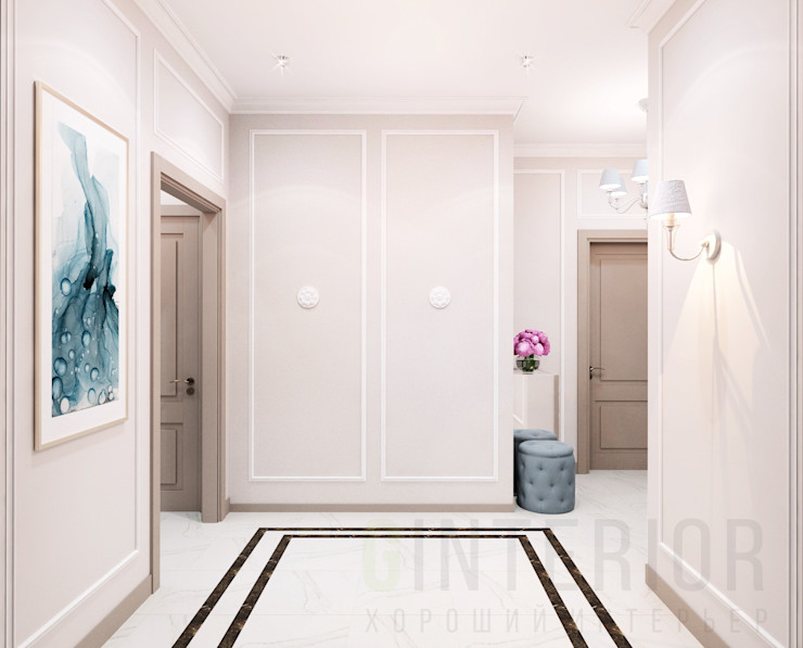 Дизайн студия 'Хороший интерьер' Klasik Koridor, Hol & Merdivenler