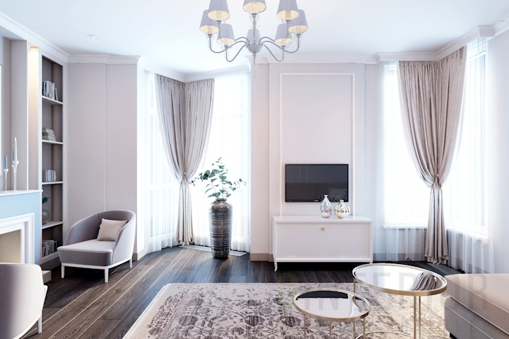 Дизайн студия 'Хороший интерьер' Klasik Oturma Odası