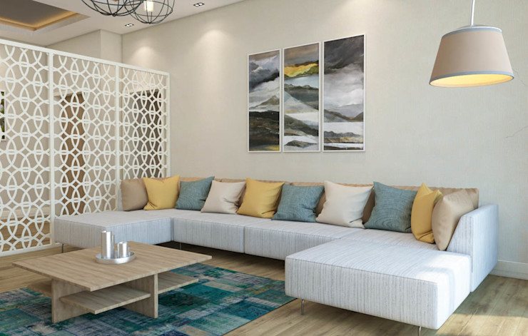 Salon - Koltuk Kalya İç Mimarlık \ Kalya Interıor Desıgn Modern Oturma Odası Ahşap Ahşap rengi