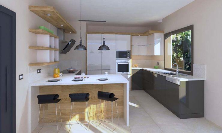 Villa Projesi - Mutfak Alanı Kalya İç Mimarlık \ Kalya Interıor Desıgn Ankastre mutfaklar Ahşap Ahşap rengi