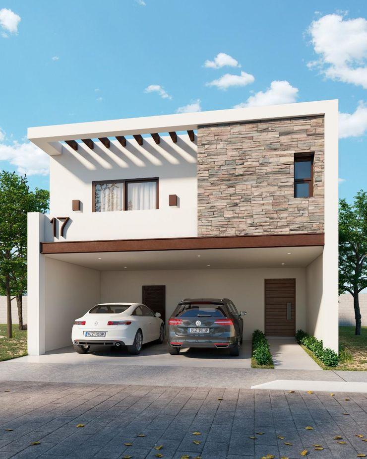 Fachada Londres VillaSi Construcciones Casas minimalistas