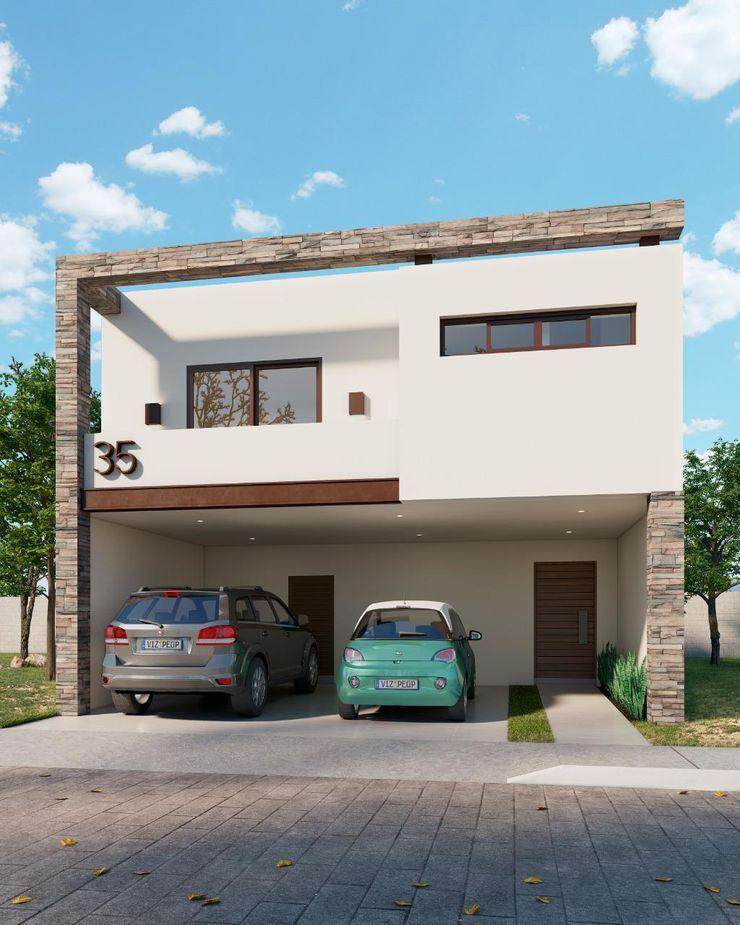 Fachada París VillaSi Construcciones Casas minimalistas
