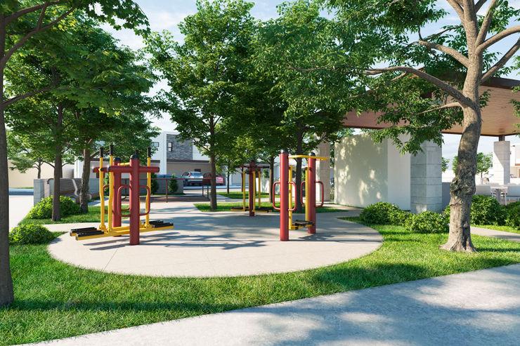 Gym exterior VillaSi Construcciones Gimnasios domésticos minimalistas