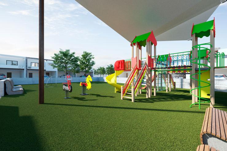 Juegos infantiles VillaSi Construcciones Jardines minimalistas
