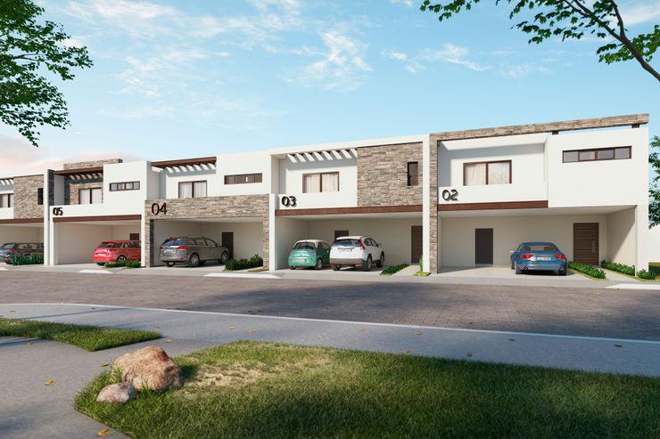 Fachadas VillaSi Construcciones Casas minimalistas