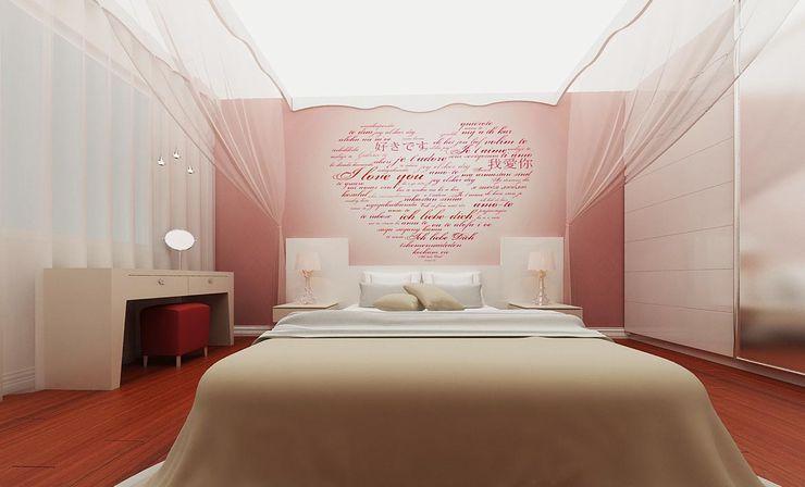 Yatak Odası Kalya İç Mimarlık \ Kalya Interıor Desıgn Küçük Yatak Odası Ahşap Pembe