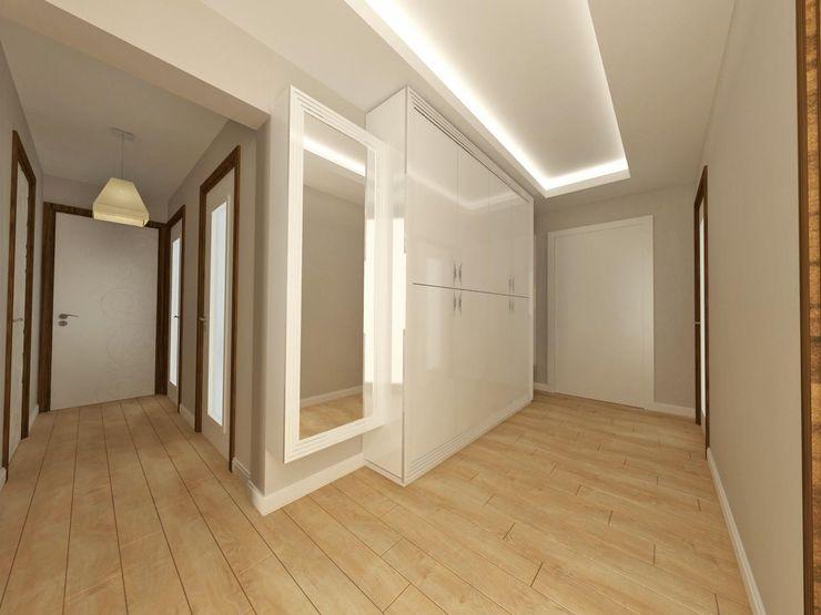Koridor Kalya İç Mimarlık \ Kalya Interıor Desıgn Rustik Koridor, Hol & Merdivenler Ahşap Ahşap rengi