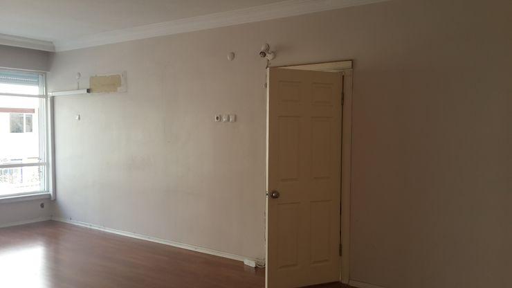 Oturma Odası - Mutfak (Öncesi) Kalya İç Mimarlık \ Kalya Interıor Desıgn Beyaz