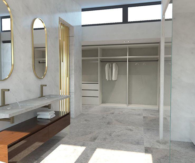 Banyo - Giyinme Kalya İç Mimarlık \ Kalya Interıor Desıgn Modern Banyo Mermer Gri